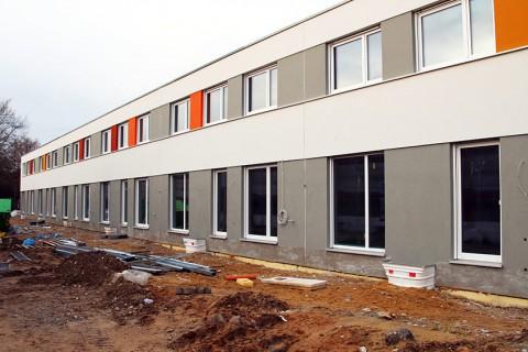 Neubau von 50 Reihenhäusern